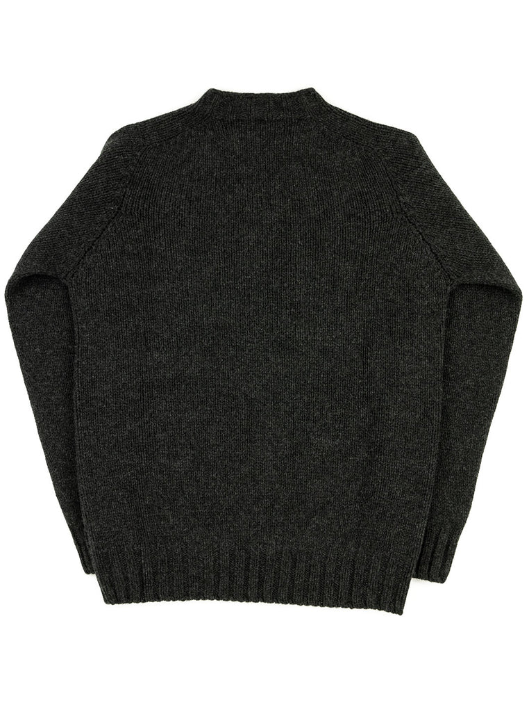 The Northern Fells Clothing Company Cable Knit Sweater Made in Scotland Charcoal Back