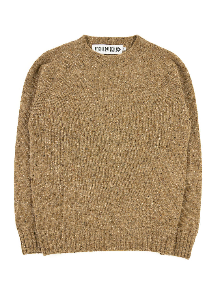The Northern Fells Clothing Company Donegal Knit Sweater Made in Scotland Boyne Camel Full