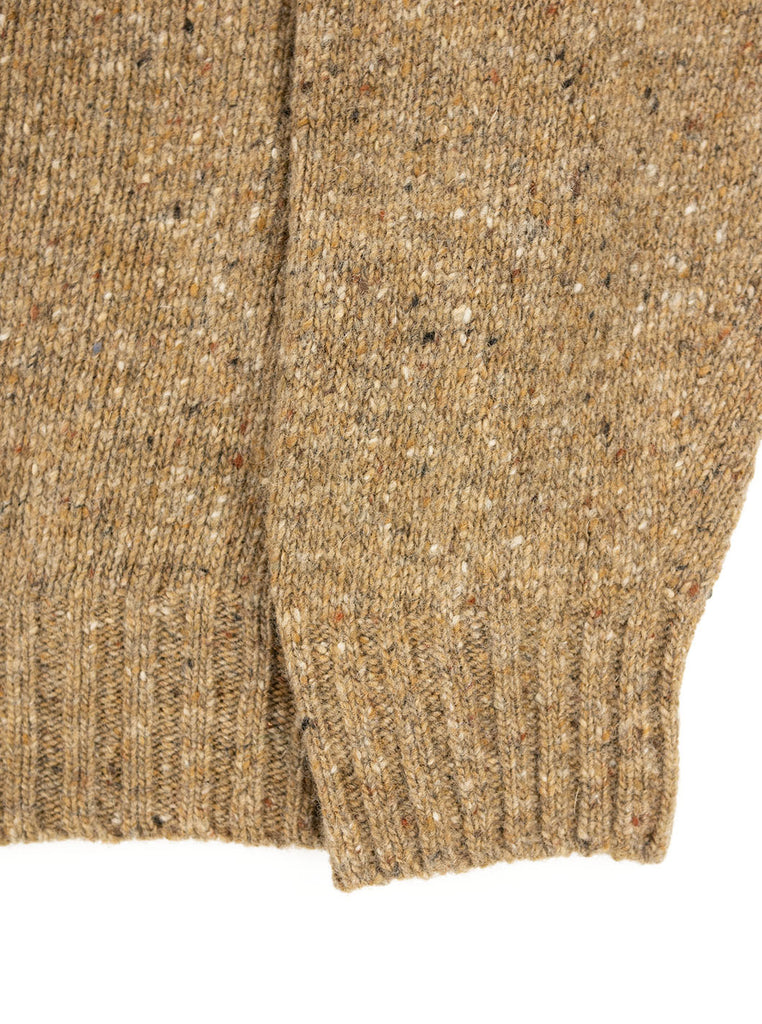 The Northern Fells Clothing Company Donegal Knit Sweater Made in Scotland Boyne Camel Sleeve