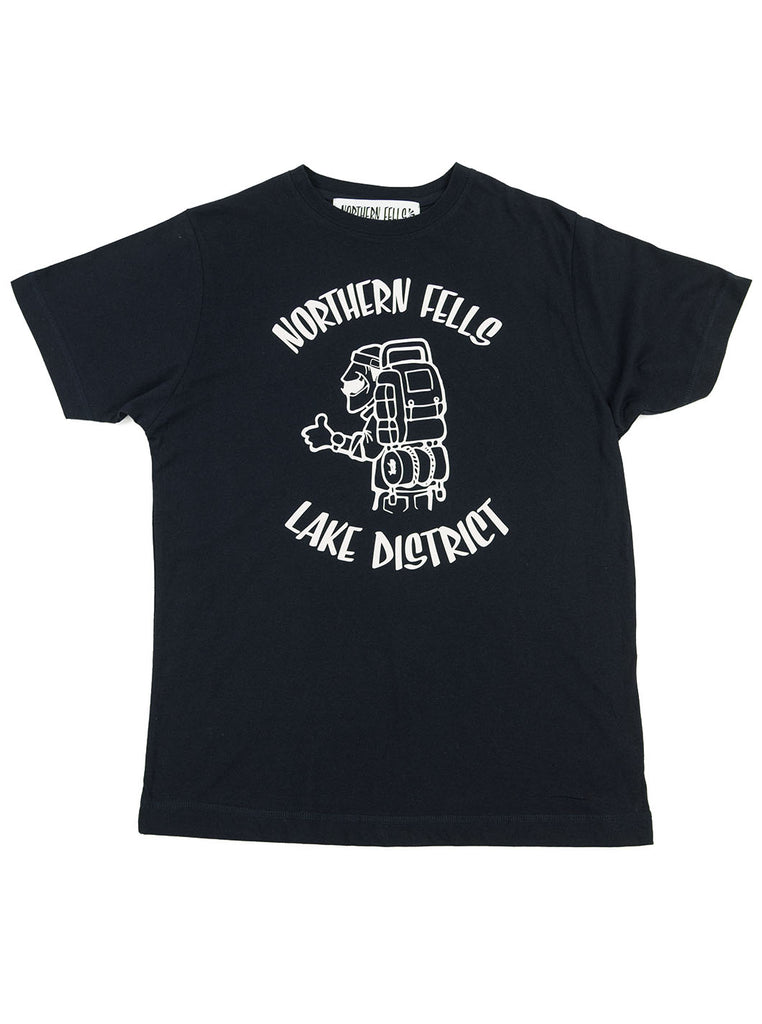The Northern Fells Clothing Company Hiker Lake District Tee Navy Full
