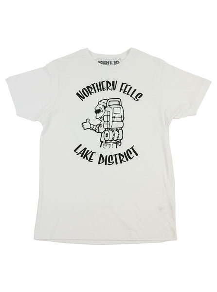 The Northern Fells Clothing Company Hiker Lake District Tee White Full