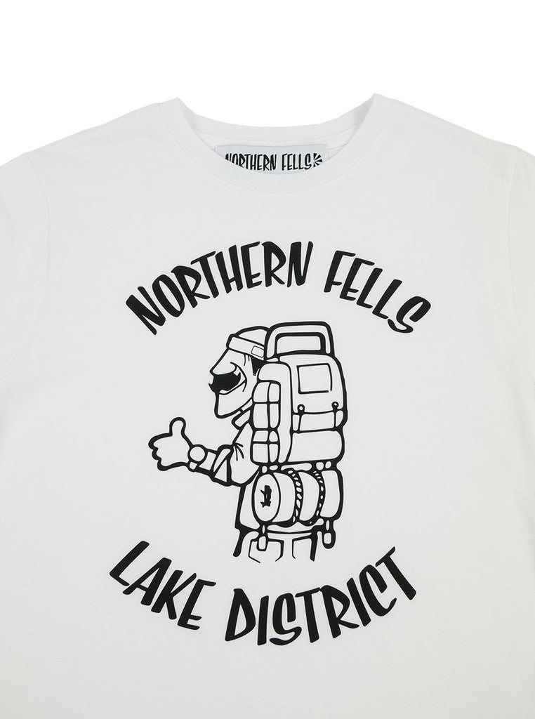 The Northern Fells Clothing Company Hiker Lake District Tee White Neck