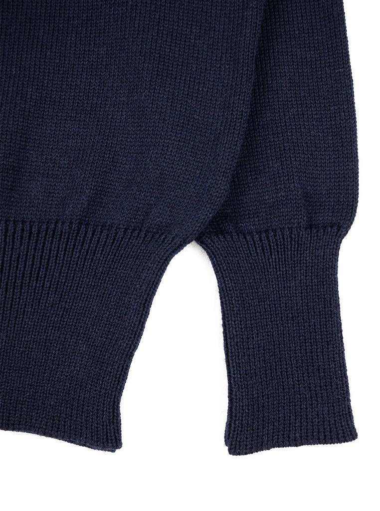 The Northern Fells Clothing Company Shawl Collar Sweater Navy Welt