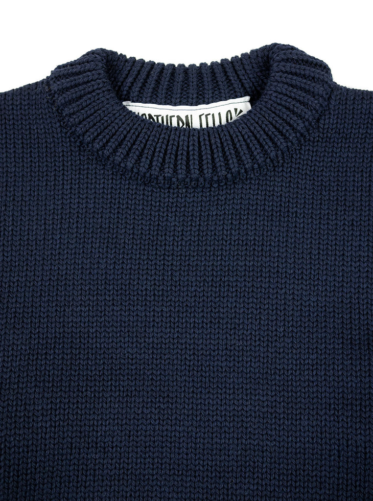 The Northern Fells Clothing Company Titanic Sweater Navy Neck