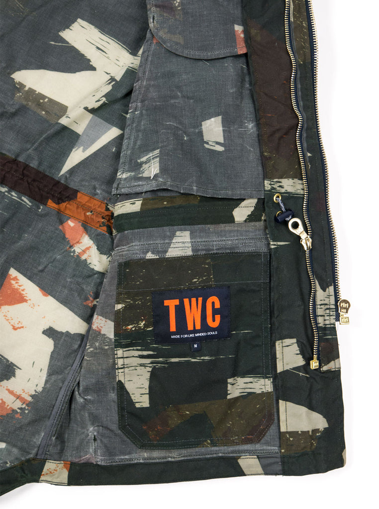 "alt=""The-Workers-Club-Abstract-Camo-Shell-Ltd-Edition-Jacket-Multi-LABEL"""