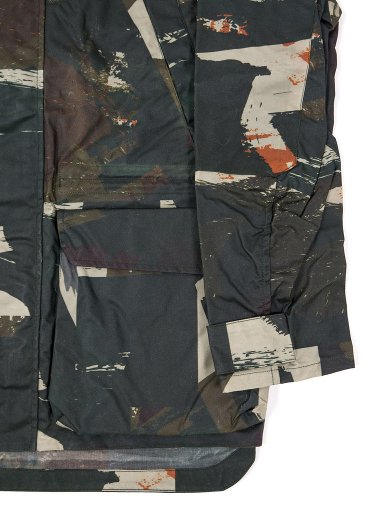 "alt=""The-Workers-Club-Abstract-Camo-Shell-Ltd-Edition-Jacket-Multi-cuff"""