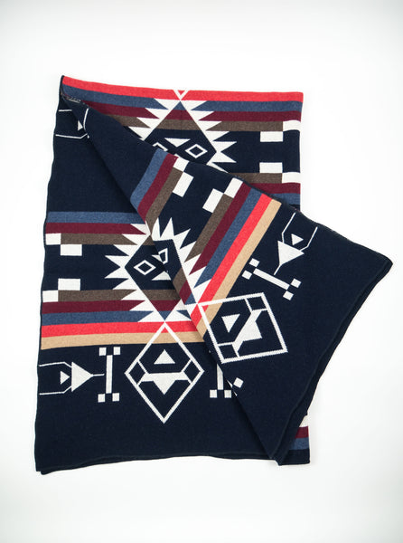 Tom & Hawk Blanket Navy The Northern Fells Clothing Company 3