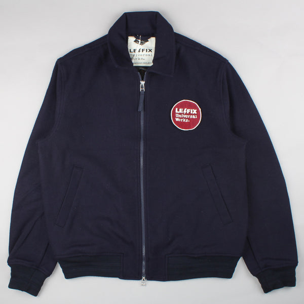 Universal Works Collaboration Le Fix The Northern Fells Clothing Company Navy Jacket Front