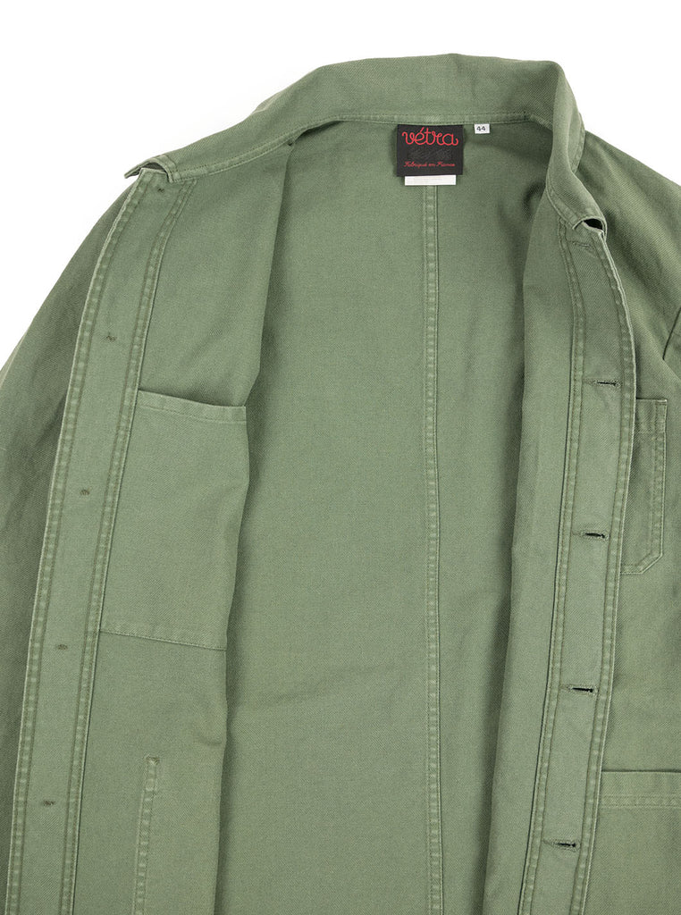 Vetra - No 4 Dungaree Wash Twill Cotton Work Jacket - Jade - Northern Fells