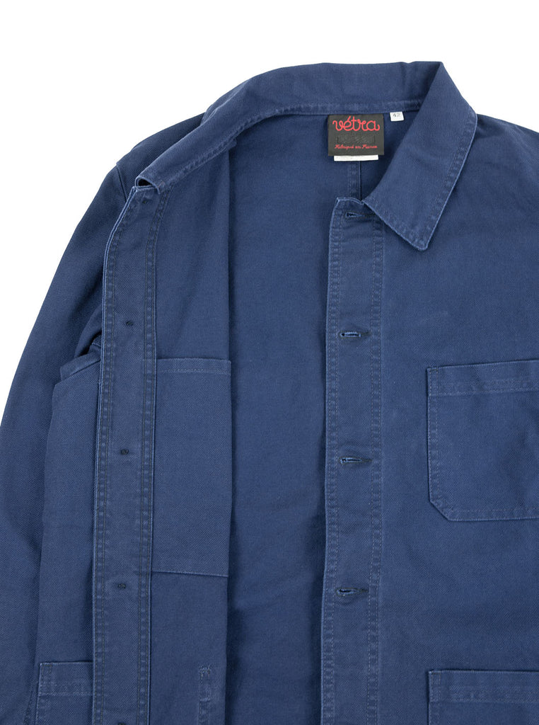 Vetra - No 4 Dungaree Wash Twill Cotton Work Jacket - Dark Navy - Northern Fells