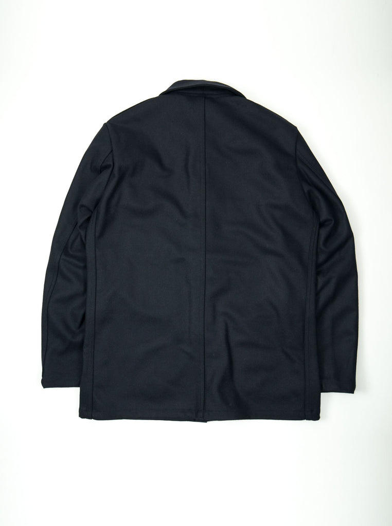 Vetra 2F05 No4 Jacket Work Coat Navy Melton Wool The Northern Fells Clothing Company Back