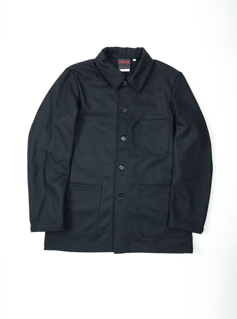 Vetra 2F05 No4 Jacket Work Coat Navy Melton Wool The Northern Fells Clothing Company Front