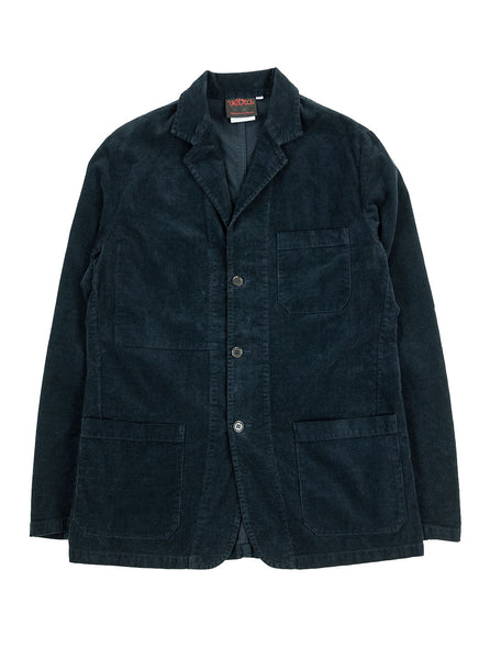 Vetra Blazer Needlecord Navy Made in France The Northern Fells Clothing Company Full