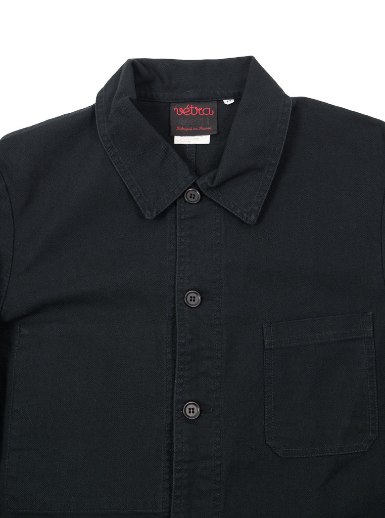 Vetra No4 Work Jacket French Chore Made in France The Northern Fells Clothing Company Neck