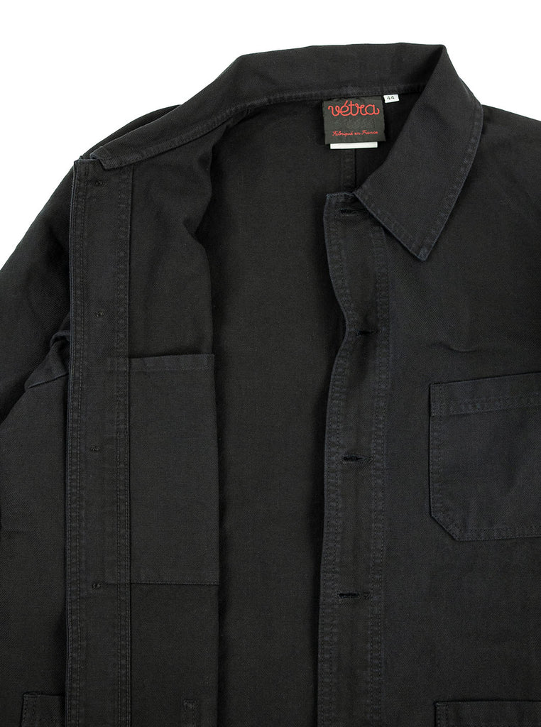 Vetra Workjacket Dark Navy Indigo Made in France The Northern Fells Clothing Company Inside