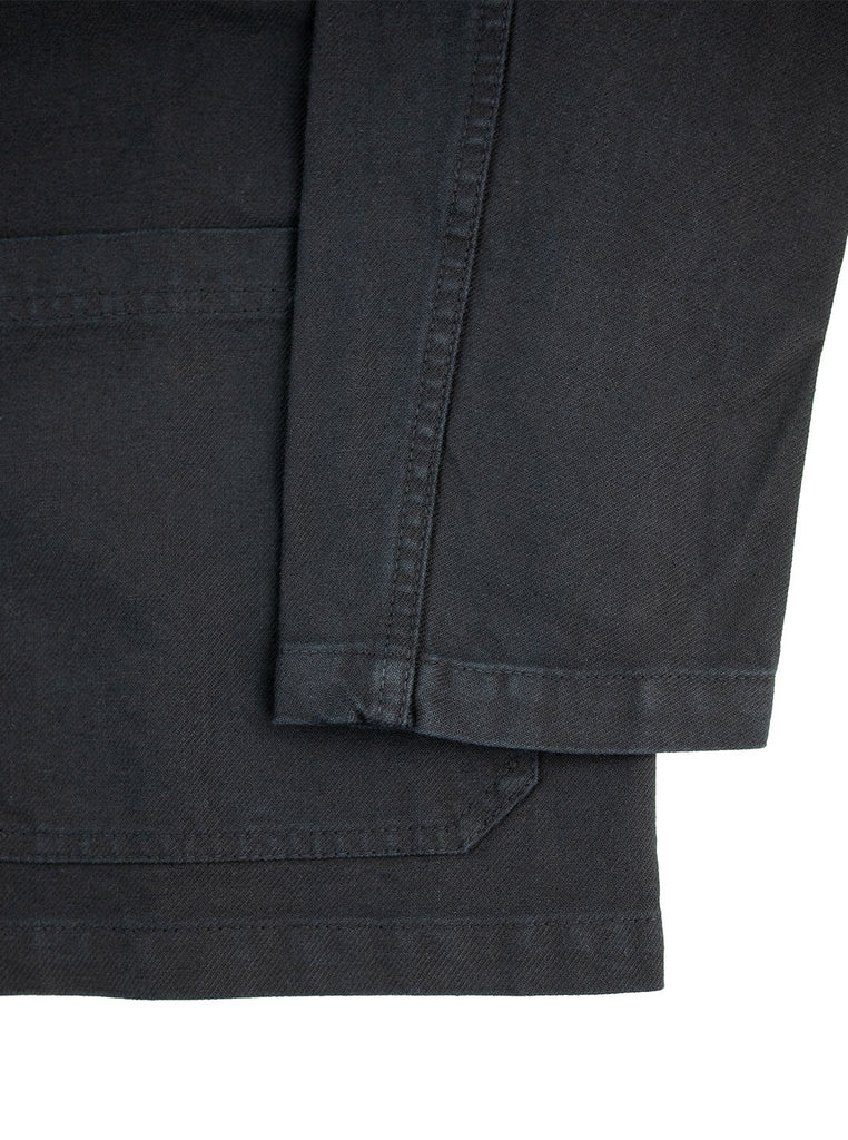 Vetra Workjacket Dark Navy Indigo Made in France The Northern Fells Clothing Company Sleeve