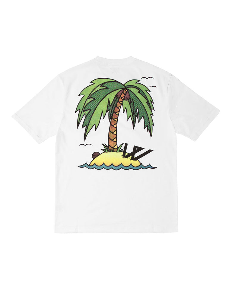 Wayward wwsg0021 Washed Up Short Sleeve T-Shirt White The Northern Fells Clothing Company Back