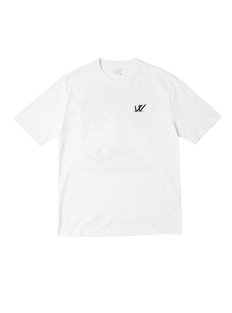 Wayward wwsg0021 Washed Up Short Sleeve T-Shirt White The Northern Fells Clothing Company Front