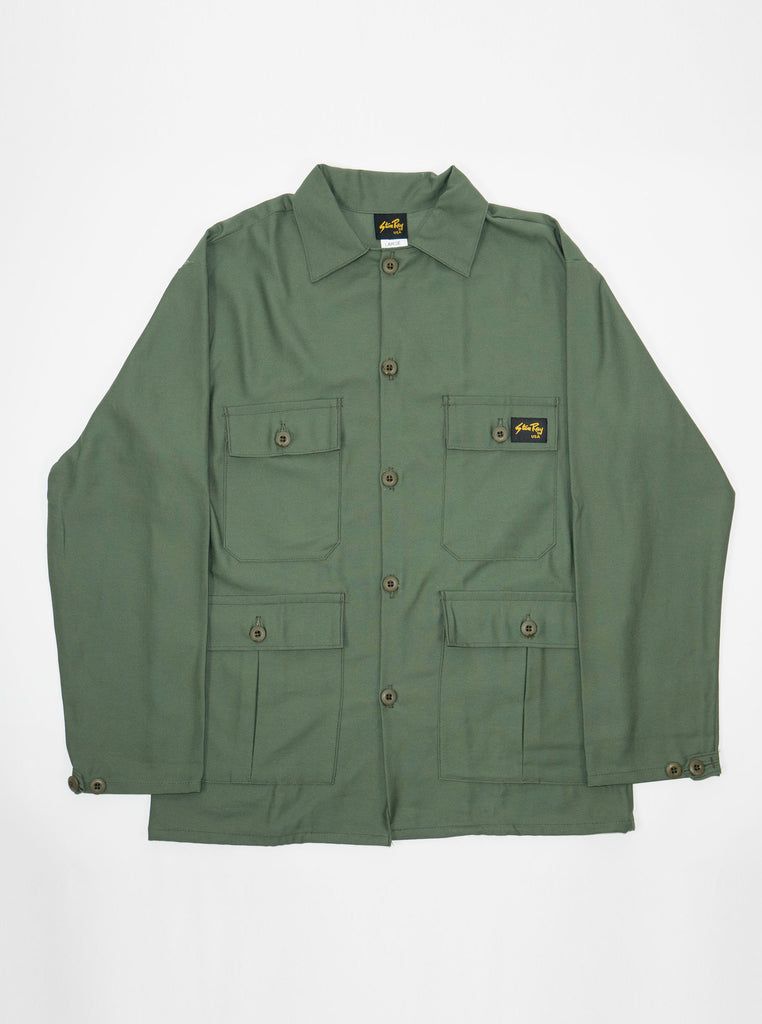 Stan Ray - 1901 - 4 Pocket Fatigue Jacket 6.25oz - Olive Sateen - Northern Fells