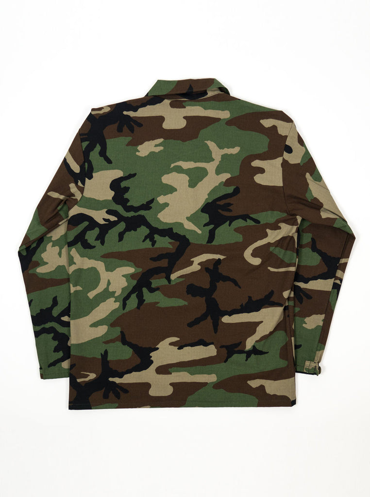 "alt=""stan-ray-military-woodland-camo-og-fit-twill-fatigue-four-pockets-jacket-made-in-the-usa-the-northern-fells-clothing-company-back"""
