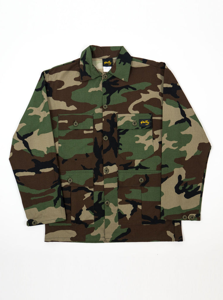 "alt=""stan-ray-military-woodland-camo-og-fit-twill-fatigue-four-pockets-jacket-made-in-the-usa-the-northern-fells-clothing-company-main"""