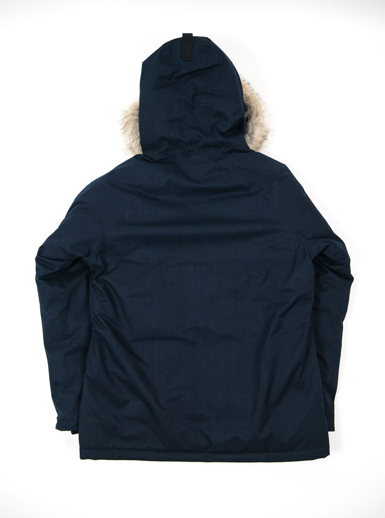 "alt=""Nobis-Heritage-Down-parka-navy-Northern-fells-back"""