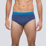 Men's Running Brief - Blue/Cyan