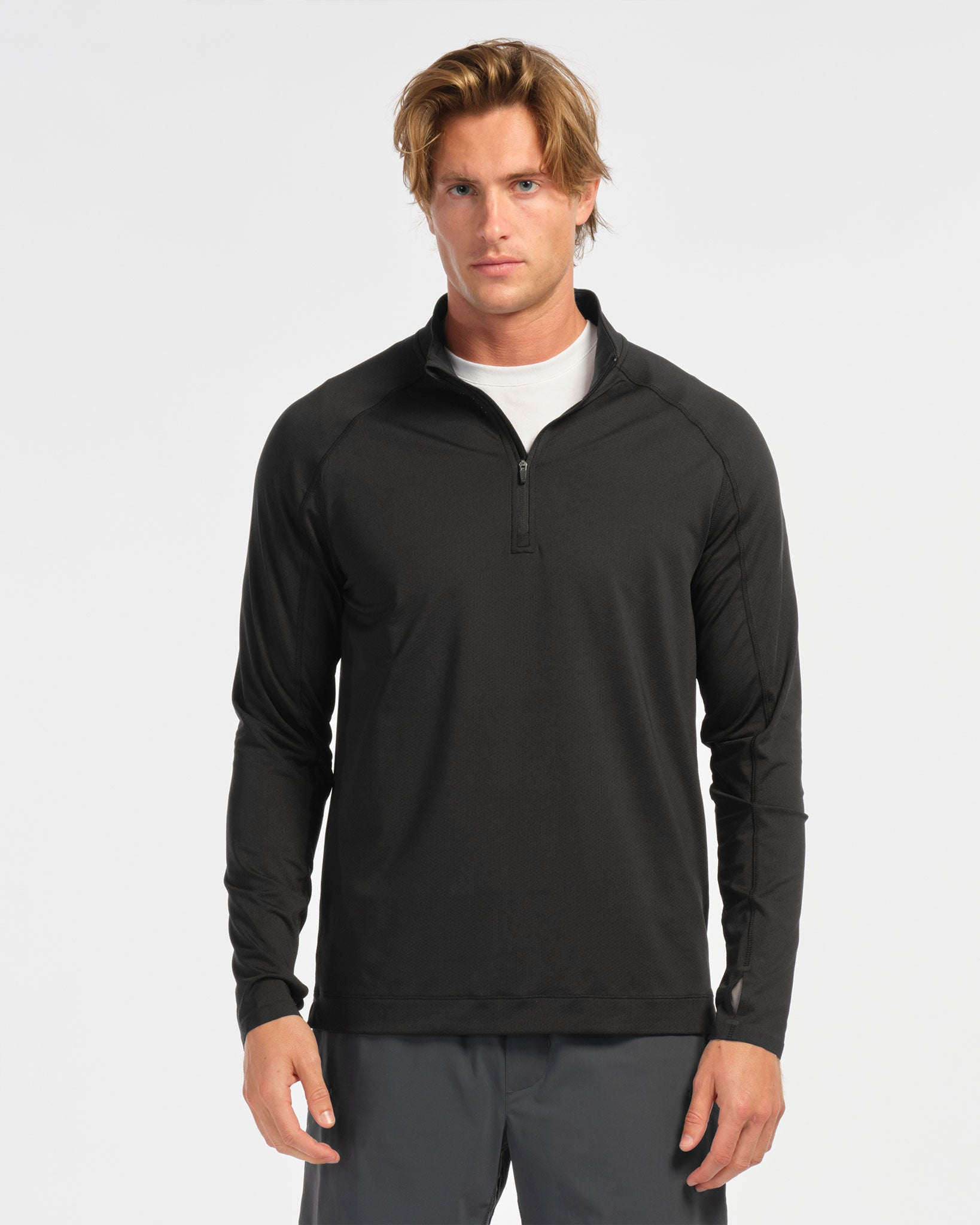 Courtside 1/4 Zip - Black