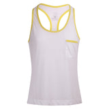 Laid Back Vest - White/Neon Yellow