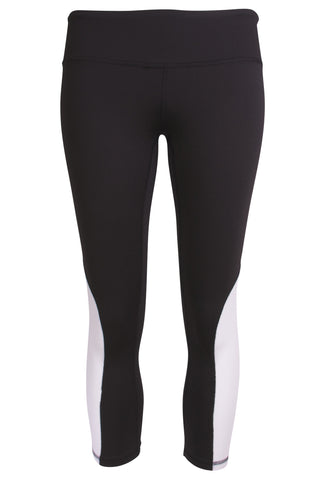 Cycling Capri - Black/White