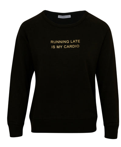 Running Late Sweater - Black