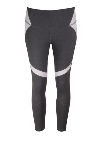 Storm 7/8 Leggings - Grey/White