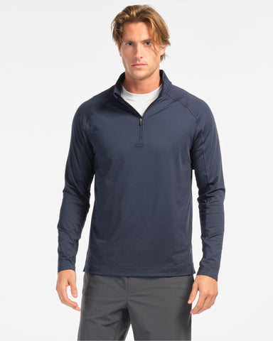 Courtside 1/4 Zip - Navy