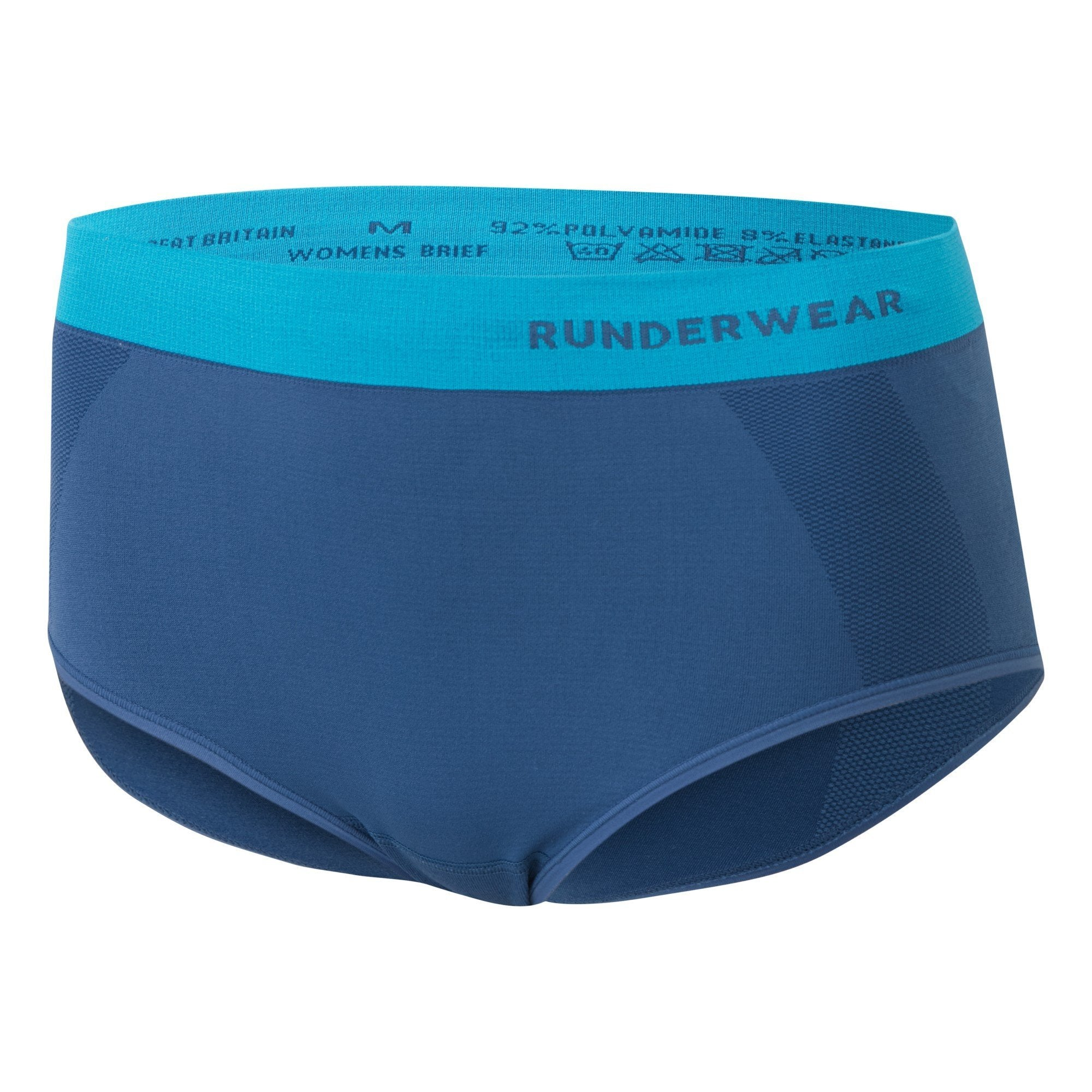 Women's Running Brief - Blue/Cyan