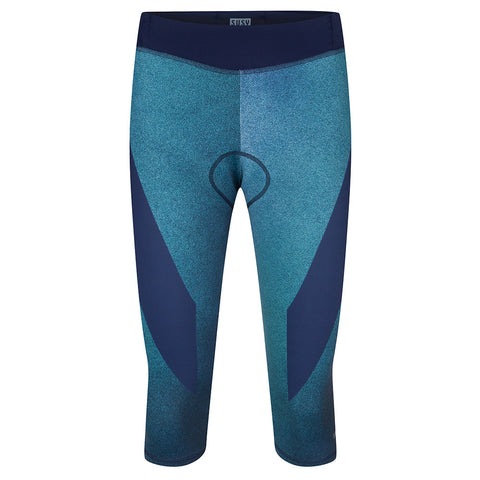 Cycling 3/4 Bib Tight - Ocean Green Spray - L