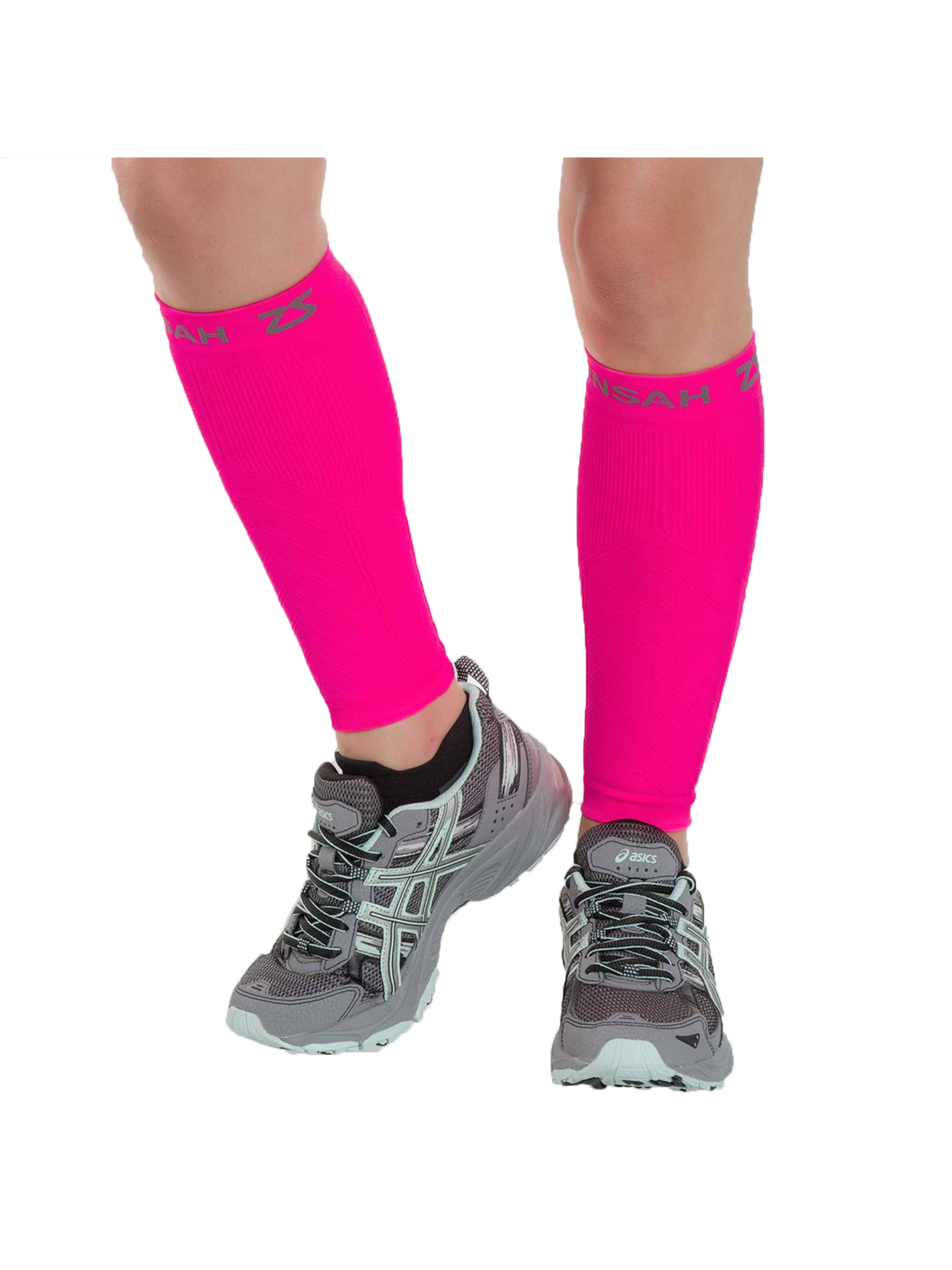 Compression Leg Sleeves - Neon Pink