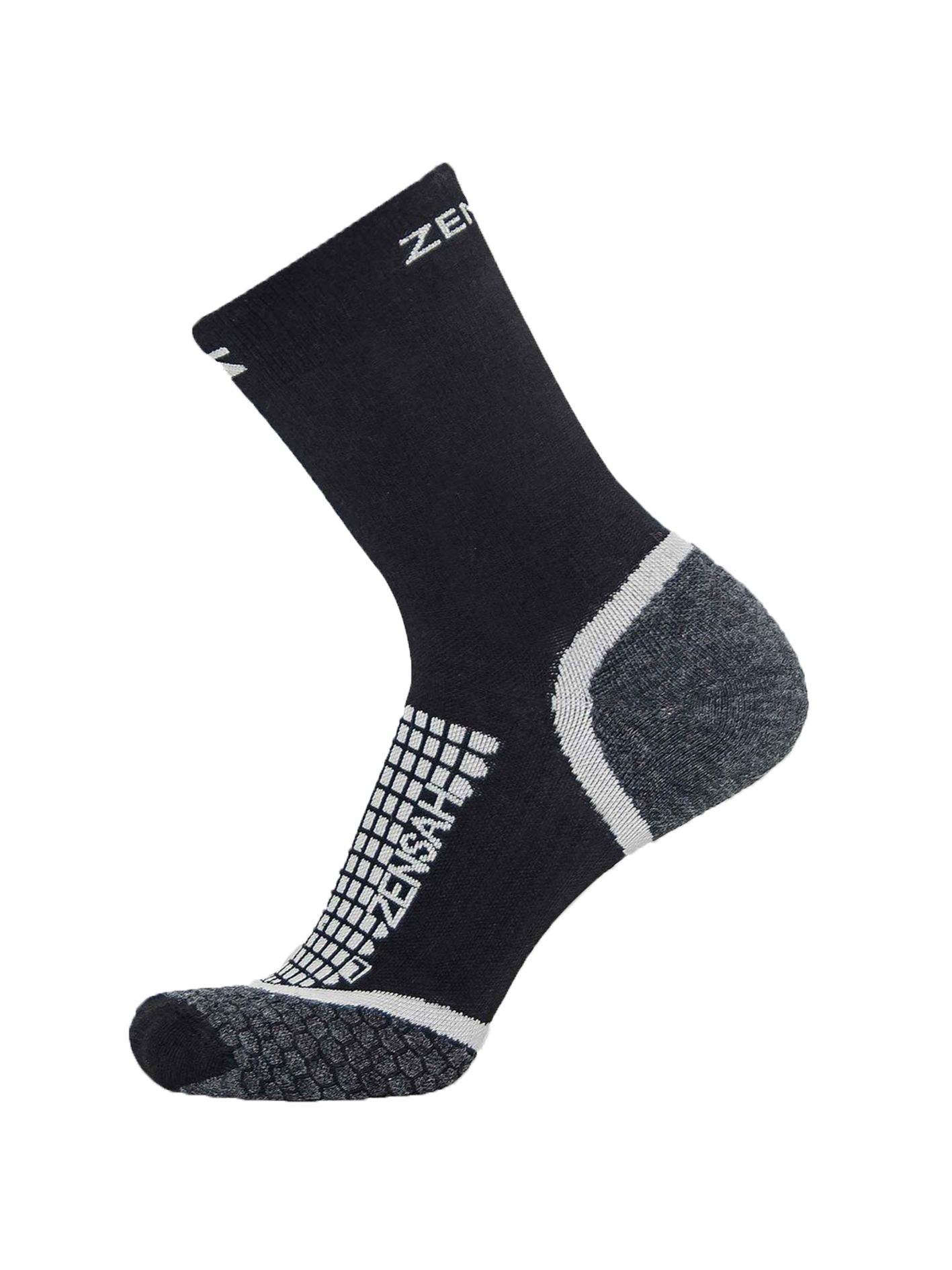 Grit Running Socks (Crew) - Black