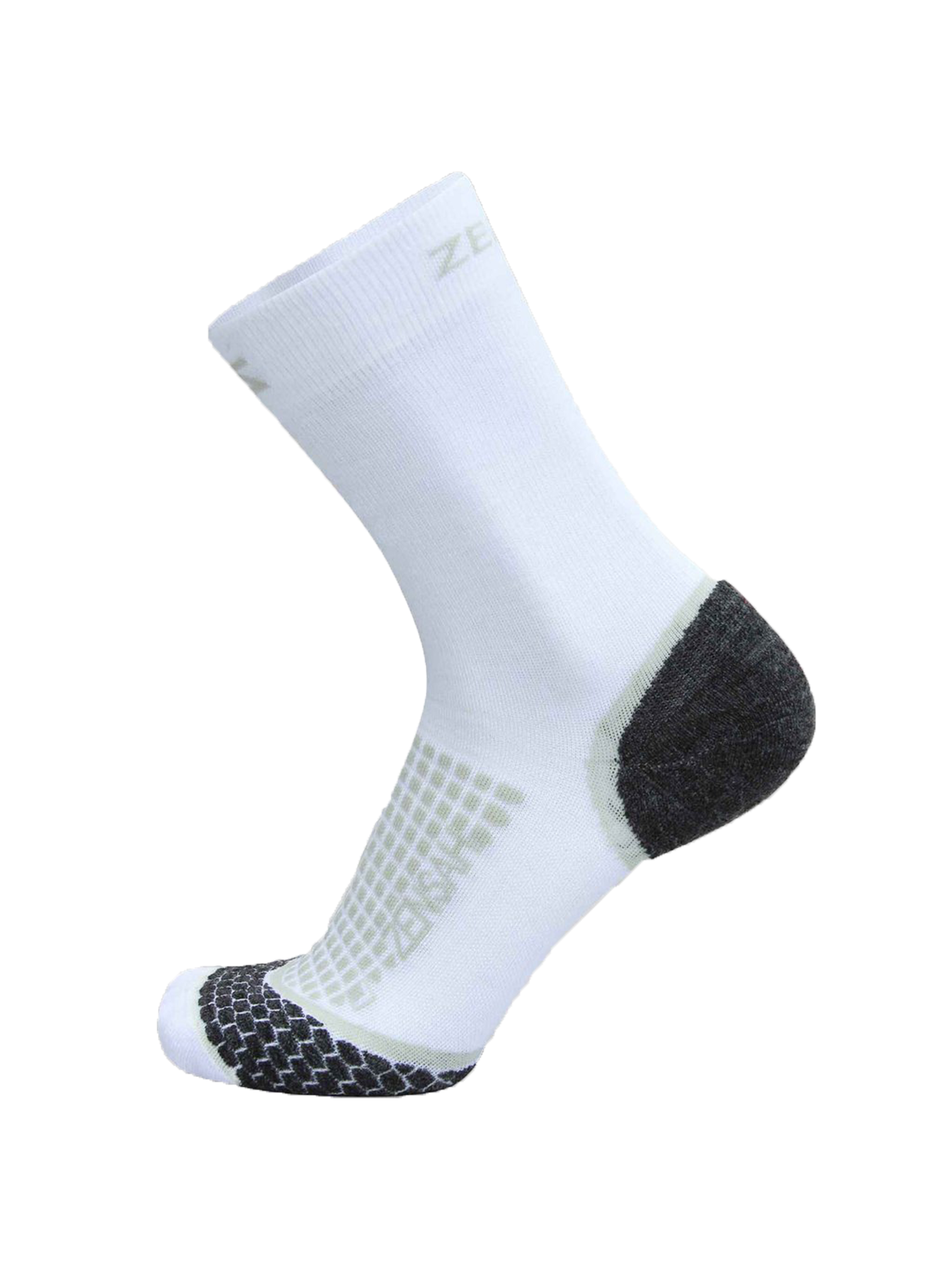 Grit Running Socks (Crew) - White