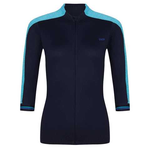 Cycling Jersey 3/4 Sleeve - Night/Blue/Aqua