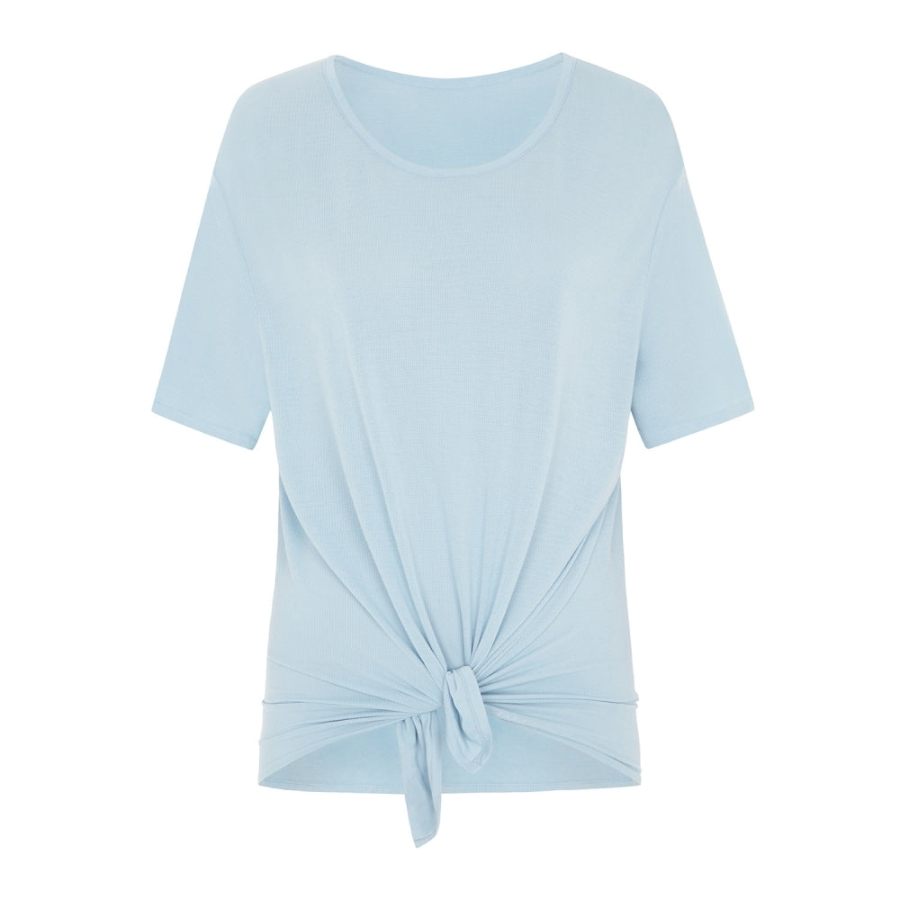 Easy Breezy Tie Bamboo T-Shirt - Light Blue
