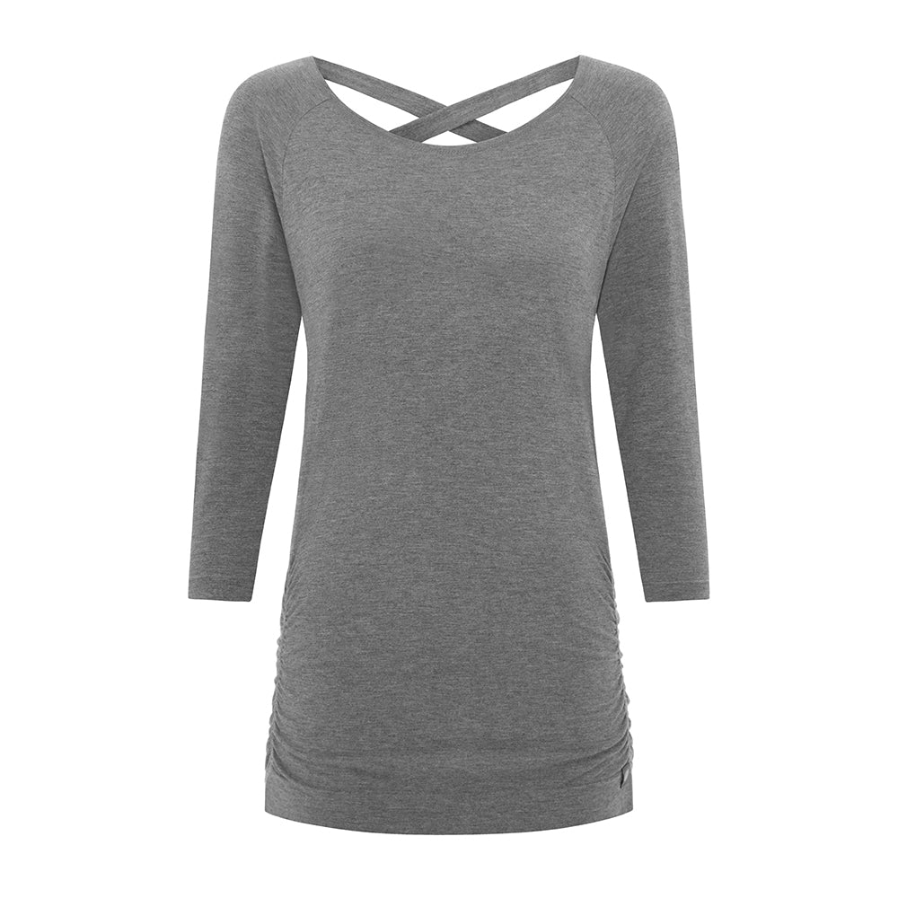 Free As Can Be Bamboo Top - Grey - M