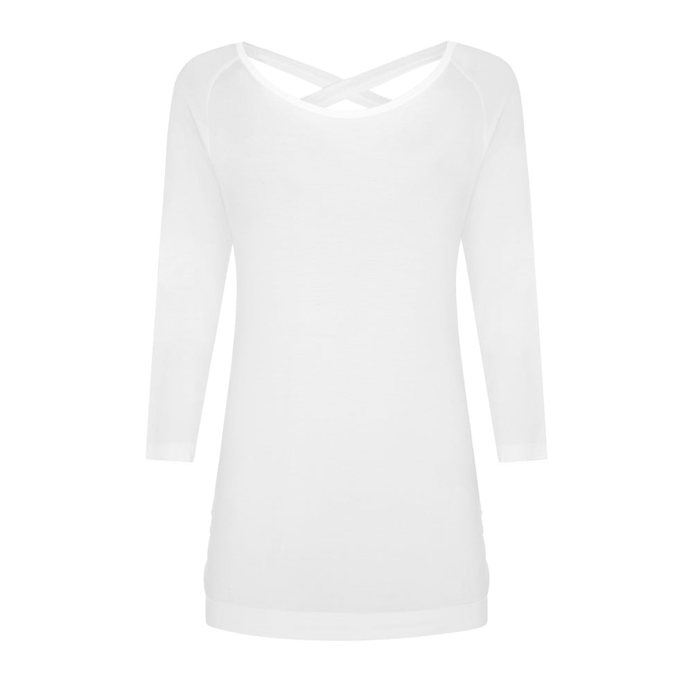 Free As Can Be Bamboo Top - White