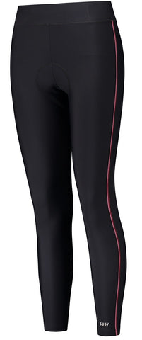 Cycling Long Bib Legging - Black/Pink/Red - M