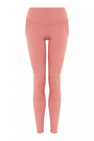 Peace of Mind Moto Legging - Sherbet