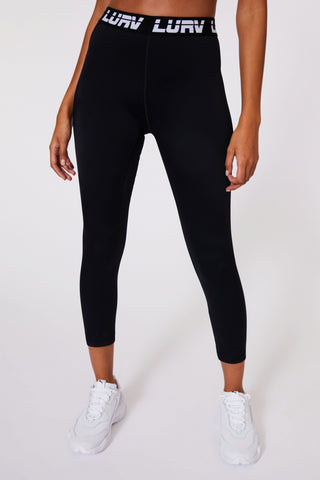 A-Game Logo 7/8 Legging - Black