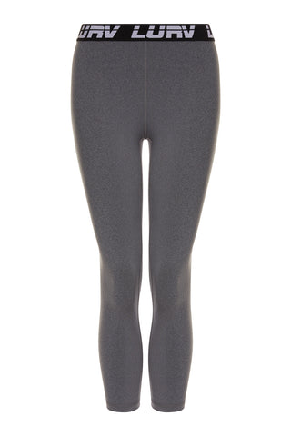 A-Game Logo 7/8 Legging - Grey