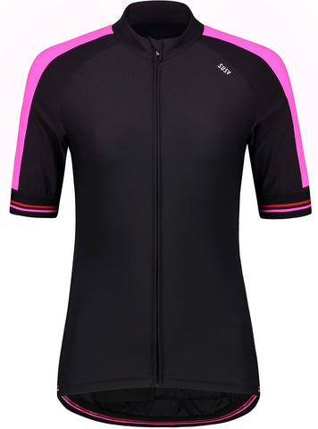 Cycling Jersey Short Sleeve - Black/Pink/Red