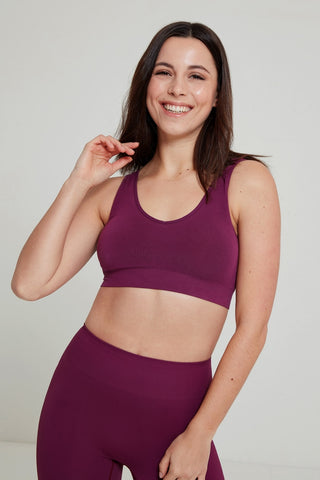 Tranquility Bamboo Yoga Bra - Beetroot