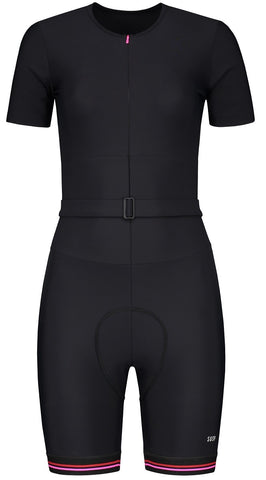 Cycling Suit - Black/Pink/Red