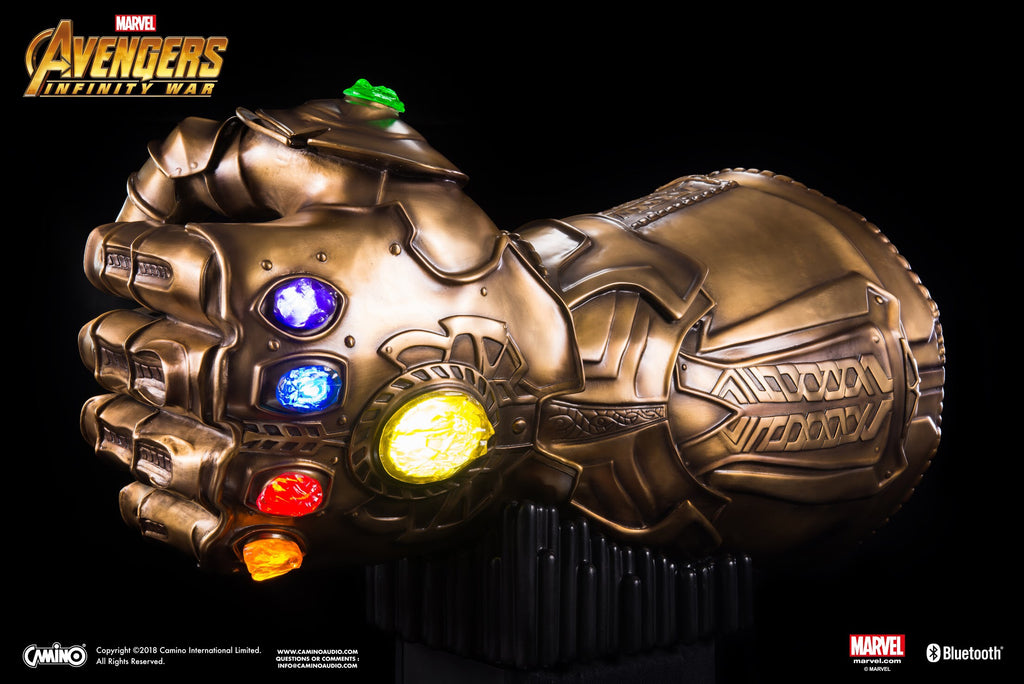 Avengers 3 Infinity Gauntlet Life-Size Bluetooth HI-FI System. Available for preorder